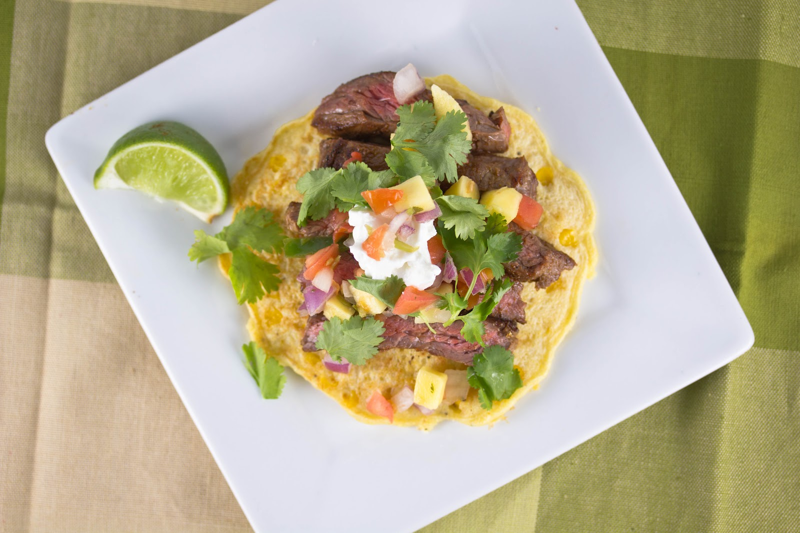 Skirt Steak with Corn Cakes - A Zesty Bite