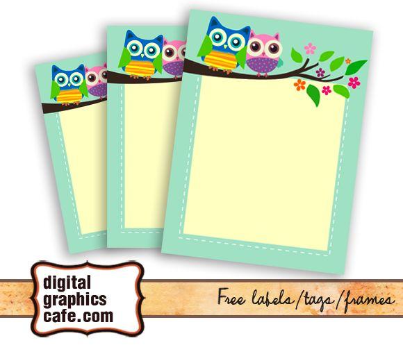 free owl tags