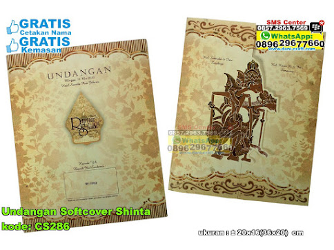 Undangan Softcover Shinta