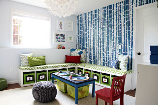 We Could Use Colorful Bins To Go With The Room Decor And Hide All The  Little Toys That May End Up Scattered Around The Room.