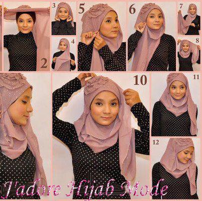 Hijab mode d 39 emploi et instructions comment mettre le hijab hijab et voile mode style - Comment mettre un voile d hivernage ...