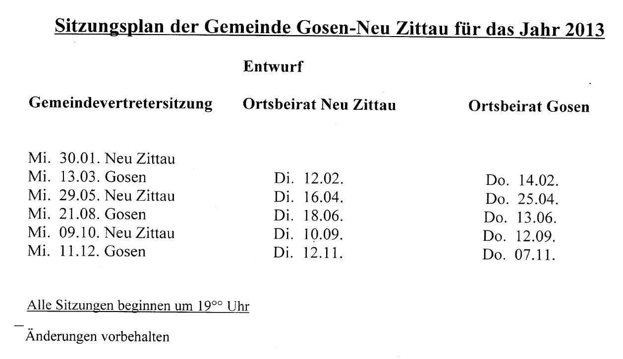 Kappstrom.de - Gosen-Neu Zittau Blog: Gemeindevertretung