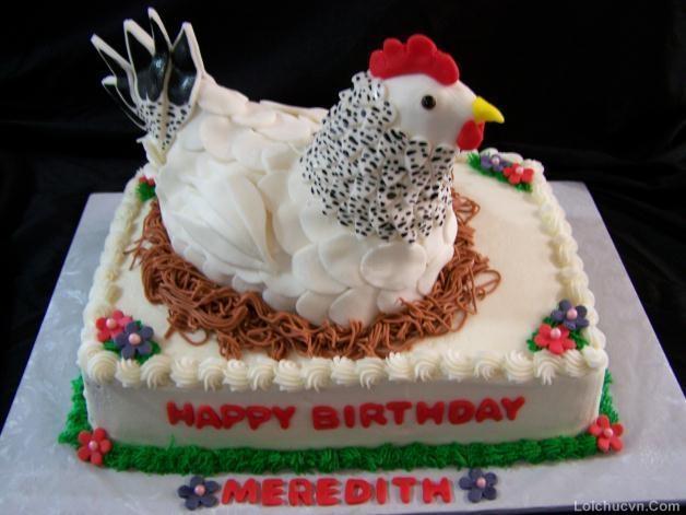 Hình ảnh bánh sinh nhật hình con gà