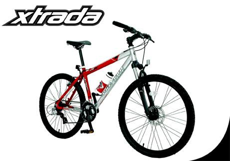 xtrada mountain bike is a bike designed with rider comfort where the