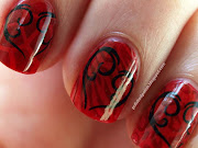 Today's challenge was Red and Black. This is my entry with layered stamping.