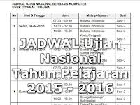 Jadwal Pelaksanaan Ujian Nasional ( UN ) 2016 SMP/MTs, SMA/SMK/MA