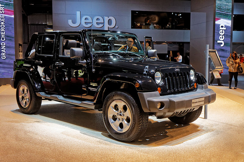 2014 Jeep Wrangler Unlimited at the autoshow