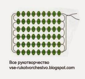Чашечка. Схема плетения