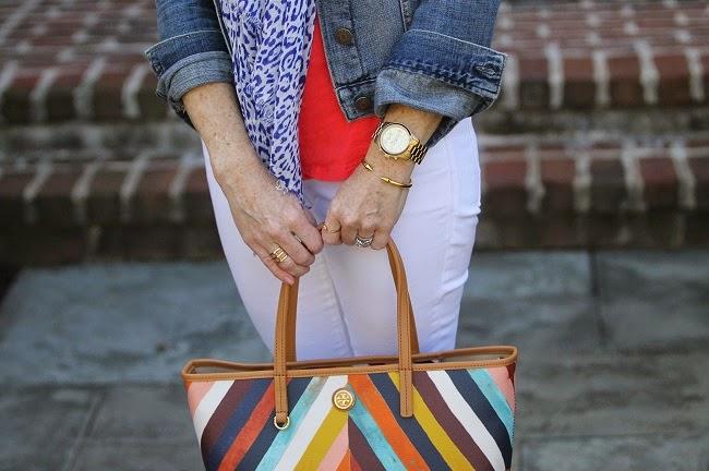 tory burch handbag, vita fede bracelet, michael kors bracelet