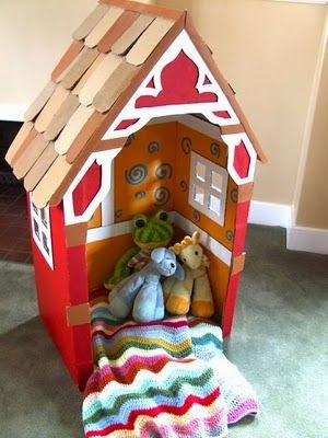diy barn recycle toy