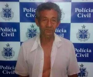 Aposentado foi preso poucas horas depois de cometer o crime (Foto: Polícia Civil/Divulgação)