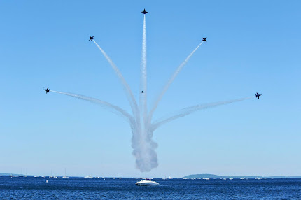 THE BLUE ANGELS VISIT TRAVERSE CITY, MICHIGAN