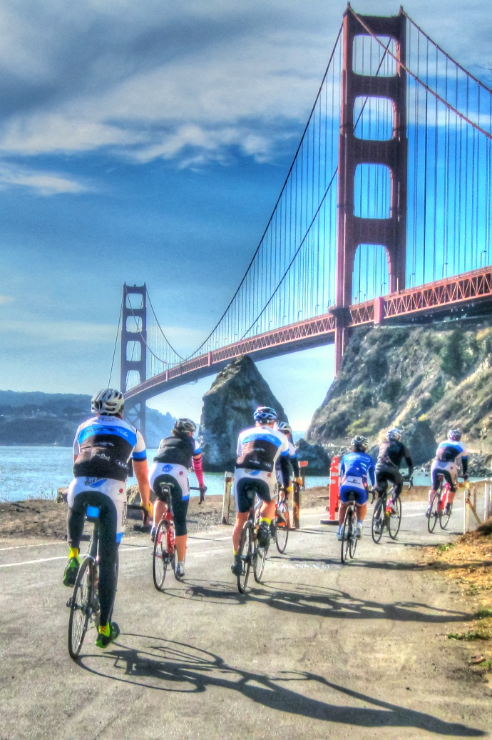 Cycling across the Golden Gate Bridge
