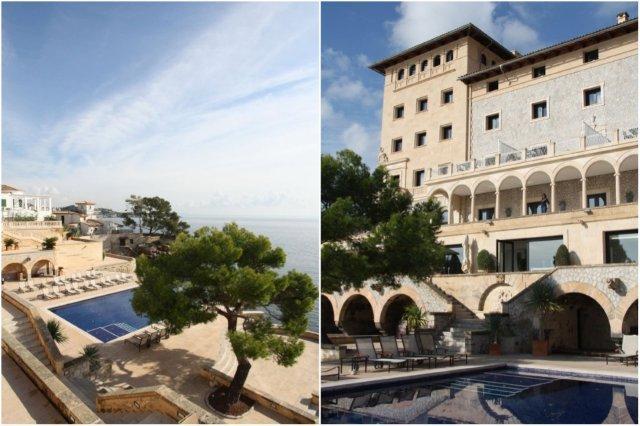 Piscina en el Hotel Hospes Maricel en Mallorca – Palacete Maricel desde la piscina