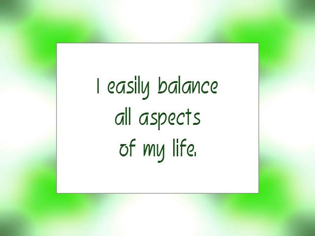 BALANCE affirmation