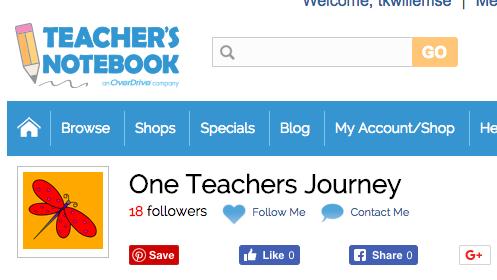 My TeachersNotebook Store