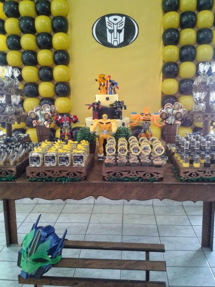 blogspotcom Decoração Provençal Festa Transformers 27042014