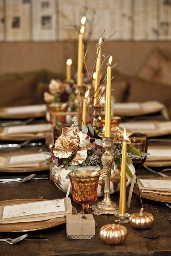 mesas decoradas otoño