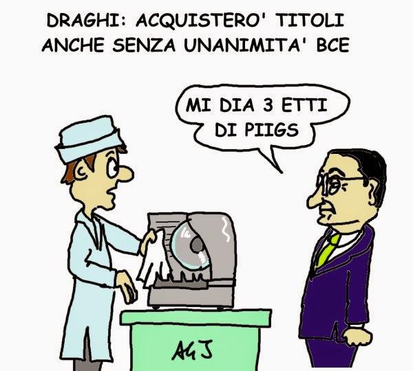 Draghi, BCE, piigs, satira