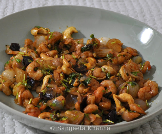 Shrimp and Cashew nuts stir fry Chinese style...