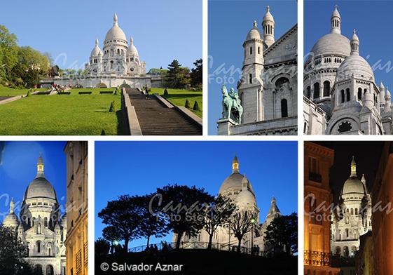 Fotografías de Sacré Coeur en Montmartre, París
