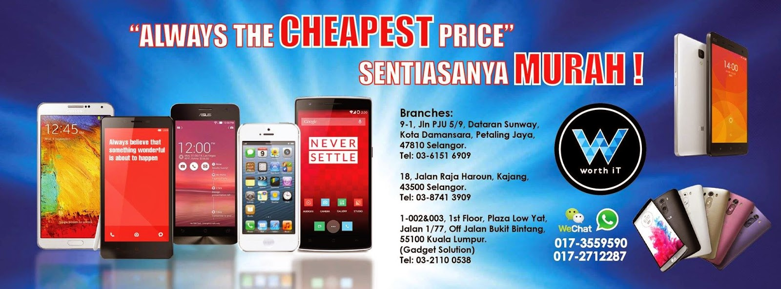 WorthIT.my - Cheapest Priced Mobile Phone Wholesale Retail Chain