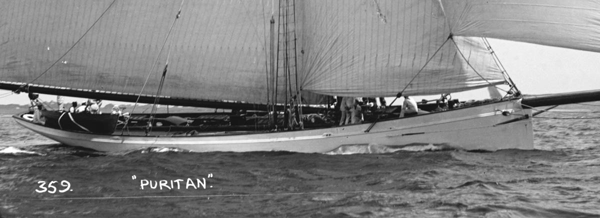 Puritan, sloop de 1885 Puritan-detail
