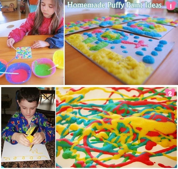 Homemade Puffy Paint Ideas For Kids
