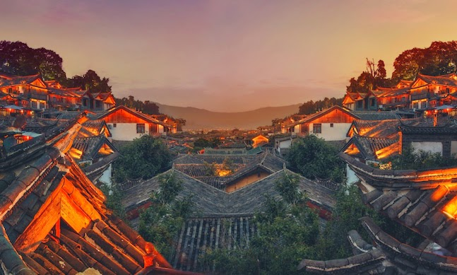 5. Beautiful China Village 5k Wallpaper