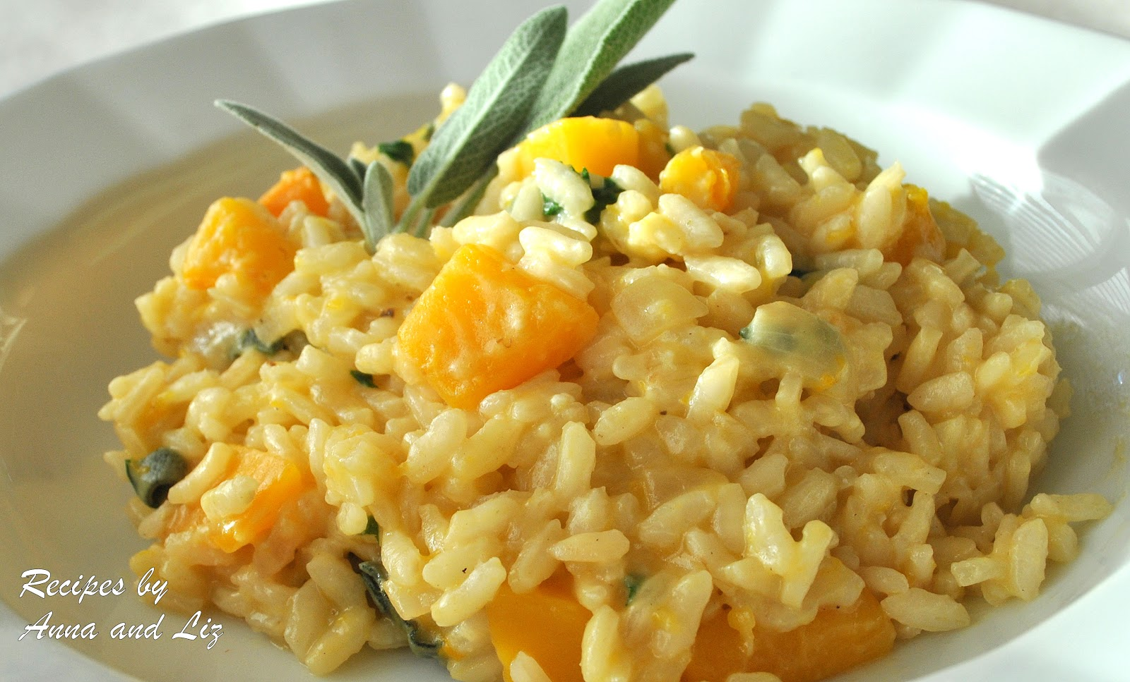 ... creamy butternut squash orzotto barley risotto with toasted pecans