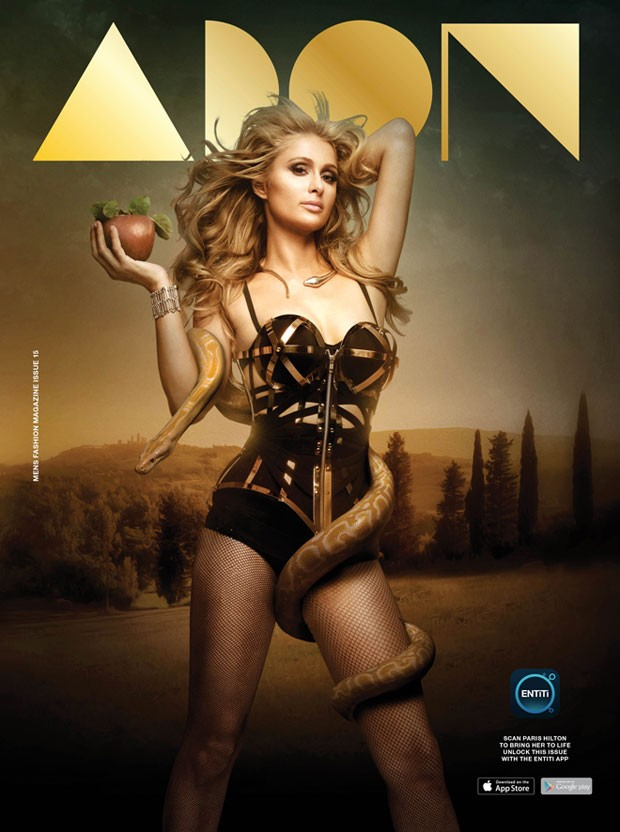 Paris Hilton covers ADON Magazine in a Biblical inspired snap
