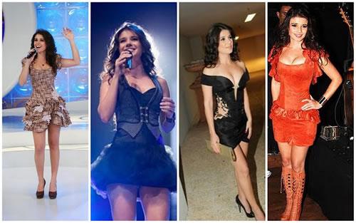 Vestidos curtos Paula Fernandes