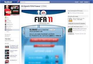Page Facebook Fifa avant la Timeline (landing page)