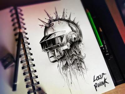 Пост-кибер-панк. Рисунки карандашом