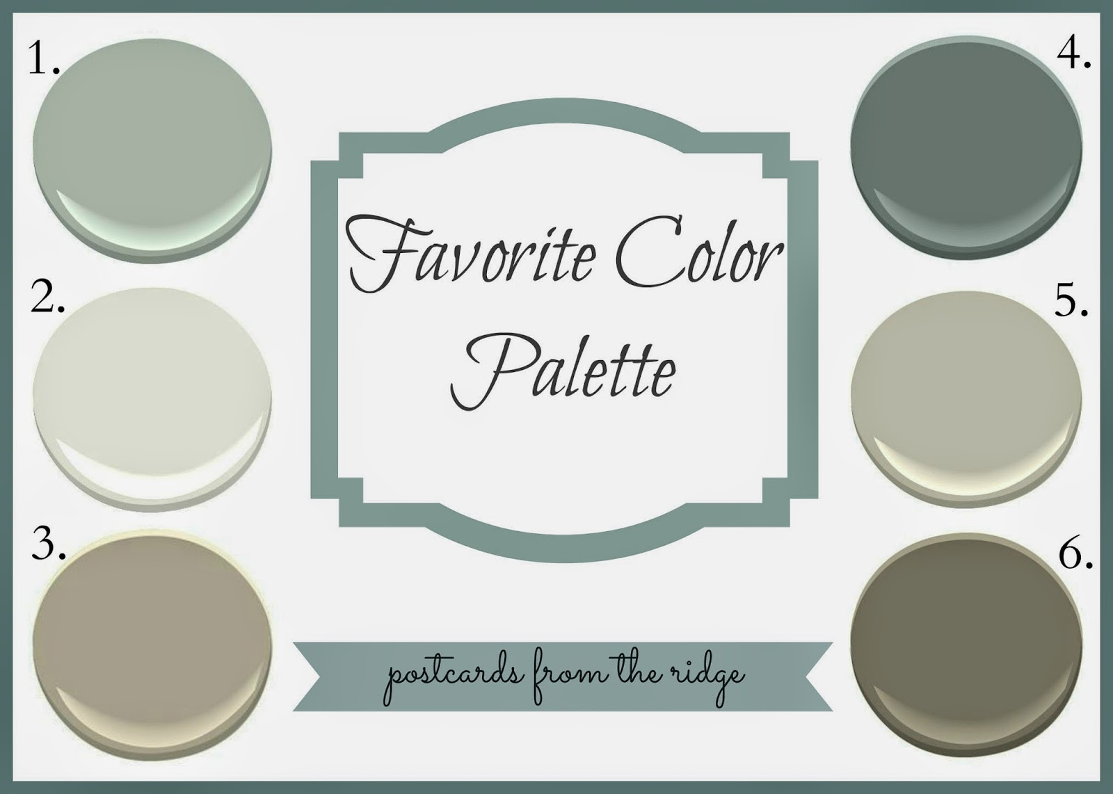 Revere pewter favorite color palette postcards from for What is accent color