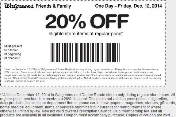 Walgreens coupon code photo