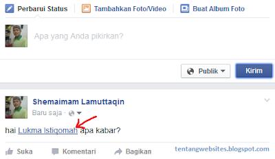Cara membuat tulisan biru pada nama teman facebook