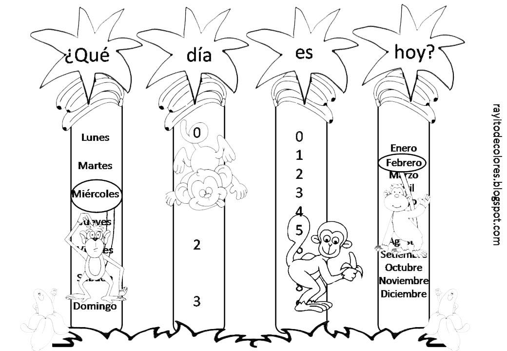 cartel calendario monos