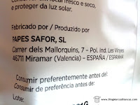 Papes Safor SL de Miramar (Valencia) fabricantes de las Papas Aitana fabrican estas patatas fritas de la marca blanca de Aldi.