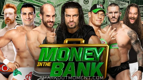 Roman Reigns wins WWE Championship Cesaro Money in the Bank 2014 PPV