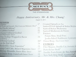 Morton's 8th Anniversary Dinner