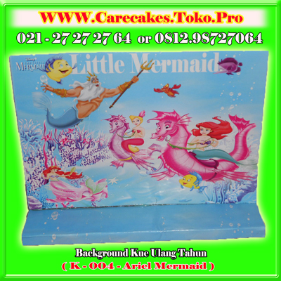 background kue ulang tahun Mermaid