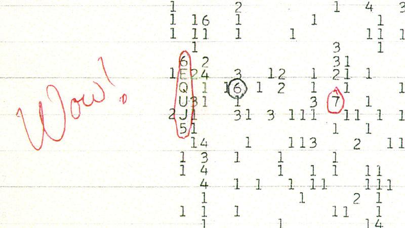 Uzaydan gelen wow sinyalinin sırrı