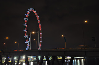 Singapore flyer - view from the bridge