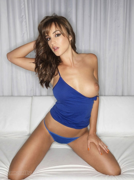 Rosie Jones Wearing a Tiny Blue Dress