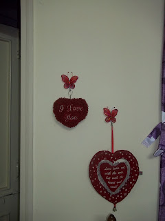 home decor, bedroom, interiors, red hearts, love romance