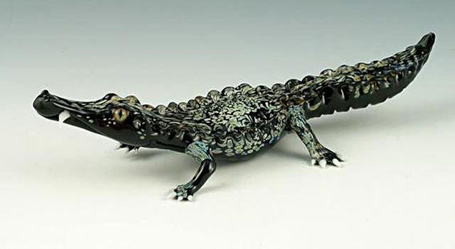 22-Crocodile-Scott-Bisson-Glass-Sea-and-Land-Animals-www-designstack-co
