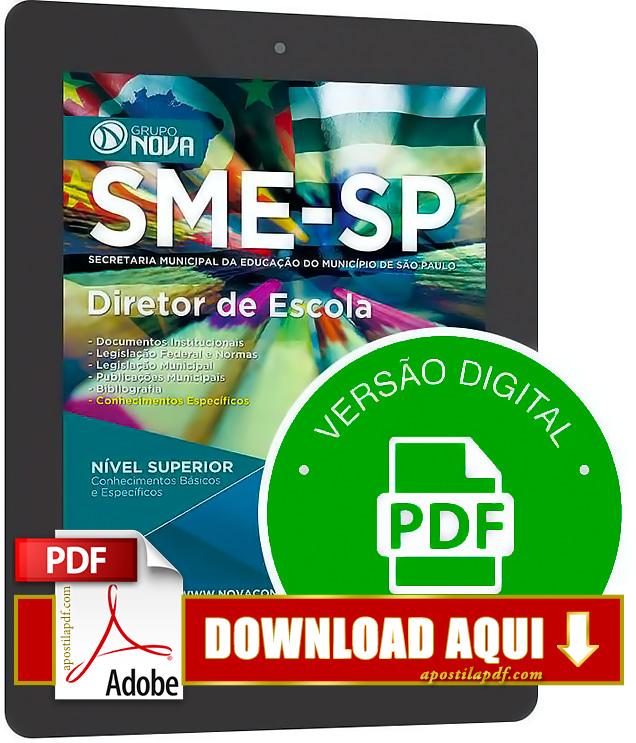 Apostila SME SP 2015 Diretor de Escola PDF Download