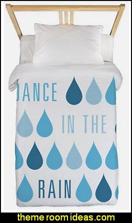Dance In The Rain Twin Duvet raindrops bedding rain themed bedrooms