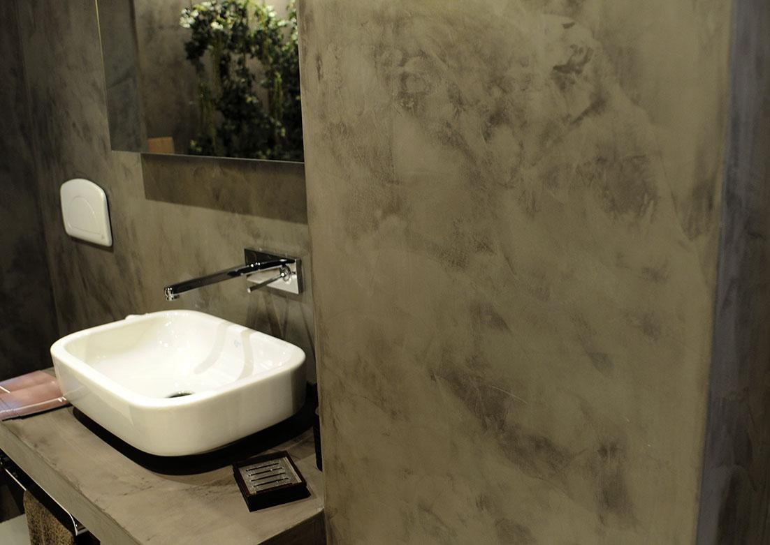 Cuartos De Baño En Microcemento: de agua también están recubiertas de microcemento mirar detalle